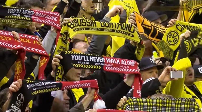 YNWA : Liverpool - Borussia Dortmund (Europa League 14.04.2016)